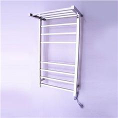 Modern Simple Silver Wall Mounted Stainless Steel Towel Warmer 65W
