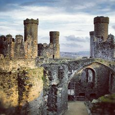 Ruins of Conwy castle Wales.