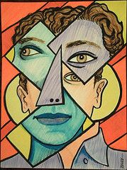 Cubist face Cubist Portraits, Portrait Images, Abstract Portrait, Georges Braque, Pablo Picasso, Famous Artists, Cute Drawings, Still Life, Image Search