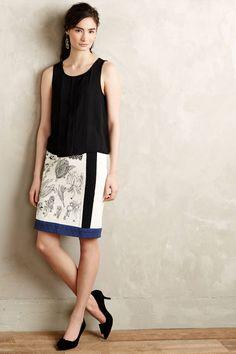 , Botanical Illustration Skirt  by Floreat