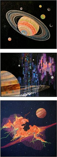 """The Sky's the Limit"" exhibit, 2010 Open European Quilt Championship, posted at Patchwork und Quiltjournal"