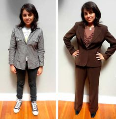 "Another great set of ""Before"" and ""After"" shots from Wardrobe for Opportunity. Find A Job, Opportunity, Shots, Product Description"