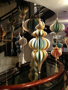Anthropologie Stairwell Ornaments by all things paper, via Flickr.