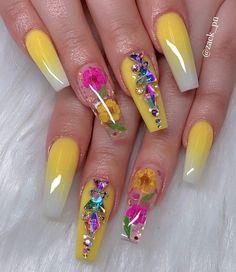 15 Cute Nail Art Designs to Welcome Summer – Nails Cute Nail Art Designs, Beautiful Nail Designs, Acrylic Nail Designs, Summer Acrylic Nails, Best Acrylic Nails, Summer Nails, Glam Nails, Hot Nails, Cateye Nails