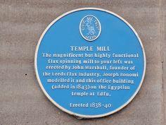 Leeds: Temple Works Blue Plaque by reinholdbehringer, via Flickr