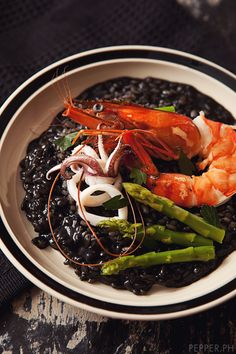 Risotto Nero: Squid Ink Risotto - Pepper.ph - A Philippine-based Food Blog for Artists, Misfits & Creatives