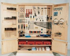 Workshop cabinets best of tool storage ideas tool storage cabinet idea cabinet workshop of workshop cabinets Workshop Cabinets, Tool Storage Cabinets, Garage Tool Storage, Garage Shelving, Garage Workshop Organization, Workshop Storage, Workshop Ideas, Garage Atelier, Cabinet Plans