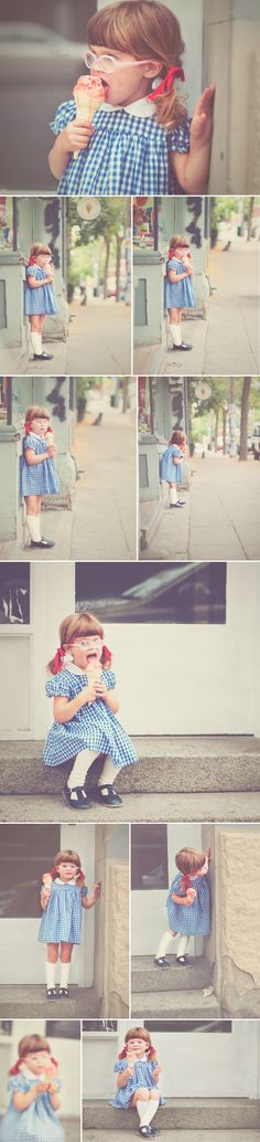 Love this ice cream session! Need to do this with C :) (and hello, how cute is this little girl in her glasses?!)