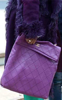 Street Style | Purple Chanel Sak | | { Couture /// In the Details                                                                                                                                                                                 Plus