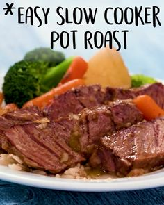 Easy Roast Easy Roast Let the slow cooker do all the work today. simple, recipe, beef, with vegetables, crock pot<br> Easy Slow Cooker Pot Roast Easy Slow Cooker Pot Roast: Adapted from the recipes of Fix-it and Forget-it Cook Book. Roast Beef Recipes, Healthy Crockpot Recipes, Easy Chicken Recipes, Recipe For Pot Roast, Beef Roast In Crockpot, Simple Crock Pot Recipes, Boneless Chuck Roast Recipes, Healthy Pot Roast, Simple Recipes For Dinner