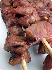 Korean BBQ..this is like bulgogi on a stick.  I'm trying it.