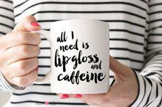 Coffee Mug Coffee Cup Coffee Quote Caffeine by alexandcoprintables Funny Coffee Mugs, Coffee Quotes, Funny Mugs, Coffee Tumbler, Coffee Gifts, Word Design, Make Design, Design Design, House Design