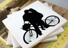 Silhouette coasters - For Mum