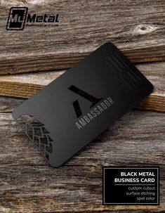 Our most sophisticated and luxurious metal business card type! Black Metal Business Cards are designed to impress with their matte black look and feel. And, they are custom made-to-order just for you! Plastic Business Cards, Metal Business Cards, Luxury Business Cards, Black Business Card, Elegant Business Cards, Web Design, Game Design, Logo Design, Identity Design