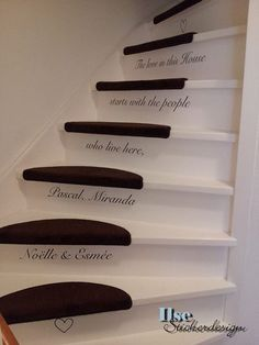 Stair Stairway Decorating, Decorating Ideas, Craft Ideas, Take The Stairs, Knobs And Knockers, Stair Steps, House Stairs, Stairway To Heaven, Heart And Mind