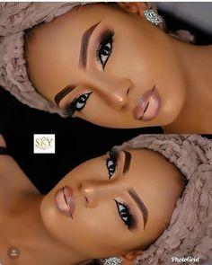 2019 Very Beautiful and Trendy Makeup Styles for Black Women - Makeup Black Bridal Makeup, Makeup For Black Skin, Black Girl Makeup, Nude Makeup, Flawless Makeup, Girls Makeup, Glam Makeup, Gorgeous Makeup, Hair Makeup