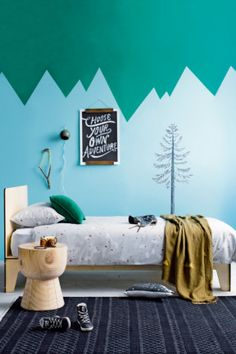 Feature pieces for a four-year-old boy who loves the outdoors and is constantly on the move! #kids #bedroom