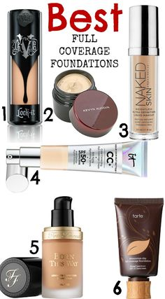 Beauty Tips Best full coverage foundations- all cruelty free! - Today I have the best full coverage foundations for you, that will hide literally EVERYTHING that you want to hide - from pimples, redness, dark und… Makeup Set, Makeup Dupes, Skin Makeup, Beauty Makeup, Makeup Hacks, Makeup Ideas, Beauty Tips, Makeup Brushes, Contouring Makeup
