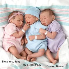 baby dolls that look real   So Truly Real My Forever Blessed Baby Doll Newborn Preemie Triplets