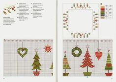 Gallery.ru / Фото #34 - Вышивка 77 - kuritsa-kusturitsa Christmas Cross, Xmas, Embroidery Patterns, Cross Stitch Patterns, Rico Design, Mini Cross Stitch, Back Stitch, Cross Stitching, Needlework
