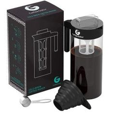 Cold Brew Coffee and Tea Maker – Kit Plus Steel Scoop and Funnel by Coffee Gator, Black Best Cold Brew Coffee, Cold Brew Coffee Maker, Coffee Cafe, Iced Coffee, Coffee Drinks, Coffee Brewers, Coffee Menu, Coffee Poster, Starbucks Coffee