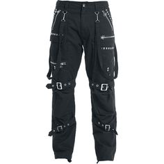 """Gothicana by EMP Cargo Trousers """"Zipper Studs"""" bla. - Gothicana by EMP Cargo Trousers Zipper Studs bla. Punk Outfits, Gothic Outfits, Teen Fashion Outfits, Grunge Outfits, Cute Casual Outfits, Stylish Outfits, Girl Outfits, Batman Outfits, Couple Outfits"""