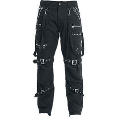 Zipper Studs - Cargo-bukser etter Gothicana by EMP