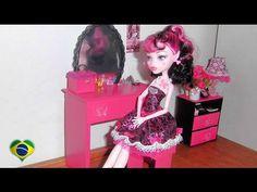 Como fazer penteadeira #2 para boneca Monster High, Barbie, Pullip e etc - YouTube