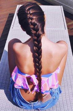 #brunette #french-braid #summer_outfit