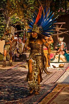 Aztec Dancer In Ceremonial Costume