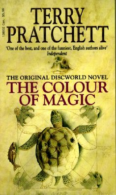 The first book in the discworld series. Follows Rincewind and Twoflower through Ankh-morpork.