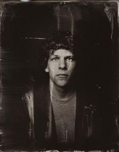 2014 Sundance tIn type portraits // Jesse Eisenberg // poses for a tintype (wet collodion) portrait at The Collective and Gibson Lounge Powered by CEG, during the 2014 Sundance Film Festival in Park City, Utah. (Photo by Victoria Will/Invision/AP)