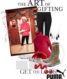 """""""The Art of Gifting with PUMA"""" by maria-maldonado ❤ liked on Polyvore"""