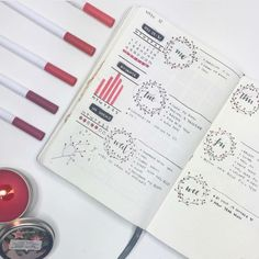 Top 10 Red Bullet Journal Spreads from this Week! - My Inner Creative
