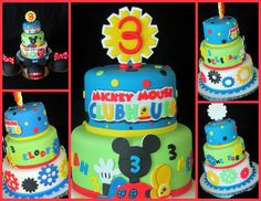Birthday Cake Photos - Mickey Mouse Clubhouse cake with smashs