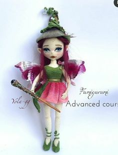 Crochet Doll Pattern, Crochet Dolls, Knit Crochet, Crochet Patterns, Crochet Fairy, Cos Play, Homemade Toys, Doll Tutorial, Beautiful Crochet