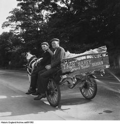 Historic England Archive Content Has Moved Two Men, Bradford, Baby Strollers, Photographers, Cart, England, Horses, Collections, Portrait