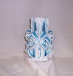 Bluebowcandlecarvedcandle#candle#carvedcandle