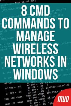 Use the Command Prompt to control your Wi-Fi network. Here are the most useful commands for troubleshooting your home network. Learn Computer Science, Computer Help, Computer Programming, Cyber Forensics, Funniest Quotes Ever, Excel Hacks, Computer Maintenance, Android App Design, Windows Software
