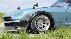 @Joey_J Slammed 1977 Datsun 280Z on CCW Classics