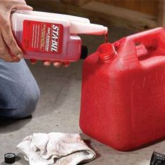 wow, didn't know gas can break down when it sits for a while and potentially gunk up your engine...so if you have a gas can sitting around for your lawn mower or small engine machine in your garage... treat the gas with a stabilizer right after you buy....to save money on repair bills later.