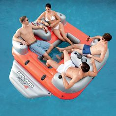 This has a built in cooler, water proof speakers and MP3 storage box, and drink holders... um yes please!