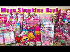 Mega Shopkins Haul, Playsets, Season 4 Shopkins, Shoppies Peppa Mint. Vi...