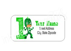PJ Masks Gekko Age of Child for Birthday Use by InkPaperParties