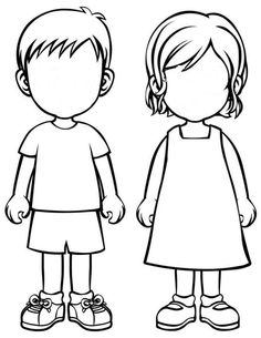 Free Coloring Page Boy And Girl, Download Free Clip Art, Free Clip ... | 305x236