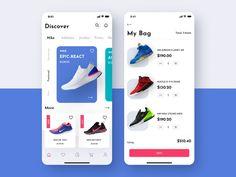 Bright App UI Kit by Anton Tkachev for on Dribbble Site Web Design, Web Design Tutorial, Design Websites, Online Web Design, Menu Mobile, Mobile App Ui, Mobile Shop, Interaktives Design, App Ui Design