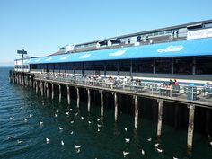 seattle | Pier 54 and Ivars Acres of Clams in Seattle © Angela M. Brown (2008)