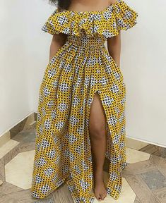 Ankara Style Idea Choosing the best Ankara fabric for your design is as important as the masterpiece you wish to create. Placement of the fabric also goes a long way to helping the finished piece. Would the fabric look better Horizontally place African Dresses For Kids, African Maxi Dresses, Ankara Dress Styles, African Fashion Ankara, African Inspired Fashion, Latest African Fashion Dresses, African Print Fashion, African Attire, African Style