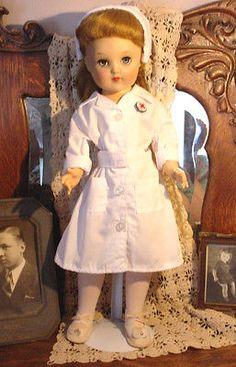 Vtg 1953 P 19 V 92 Nurse Ruth Doll Ideal Hard Plastic Vinyl USA Toni Family