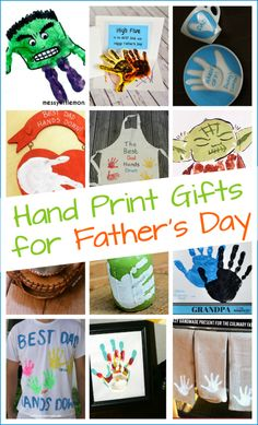 10 + Handmade Father's Day gifts kids can make with their hand prints